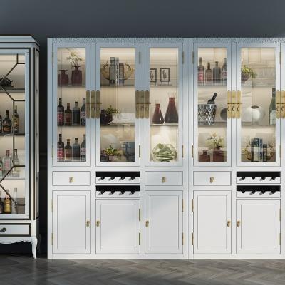新中式酒柜酒水组合3D模型