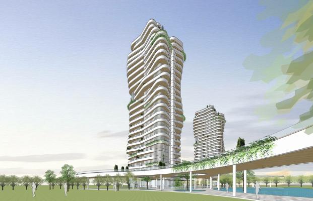 现代横线条高端公寓SU模型