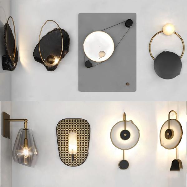 现代壁灯组合3d模型
