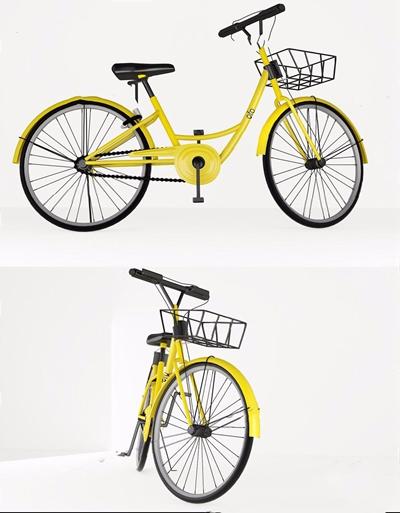 现代ofo小黄车 现代其他器材 单车 自行车 共享单车 OFO单车
