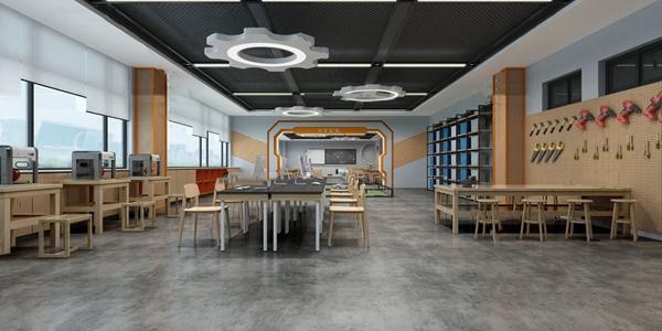 工业风学校教室3d模型