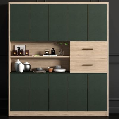 现代实木装饰柜饰品组合3D模型