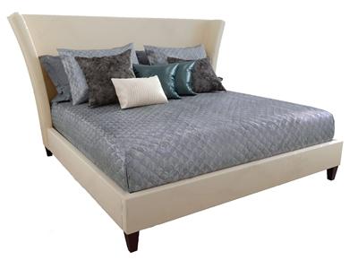 BERNHARDT现代双人床 现代双人床 皮质床 抱枕 BERNHARDT