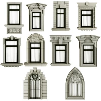 欧式窗户组合3D模型