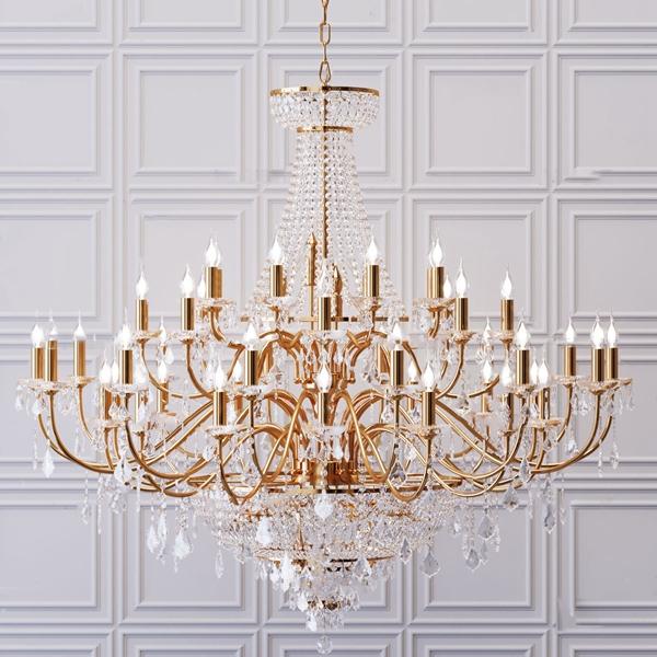 欧式金属水晶烛台吊灯3d模型