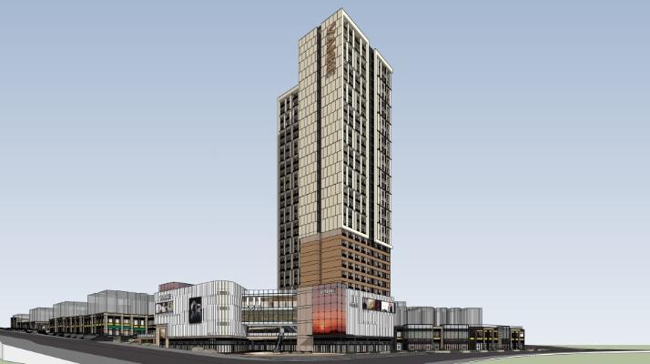 金域学府公寓+幼儿园+沿街商业SU模型