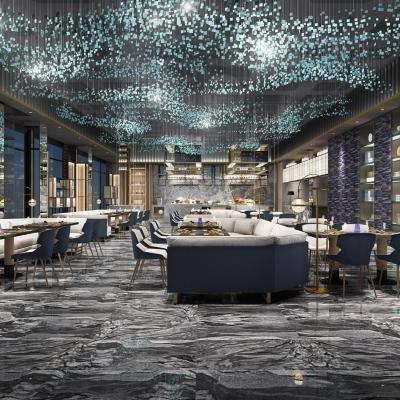 现代酒店休闲餐厅3D模型