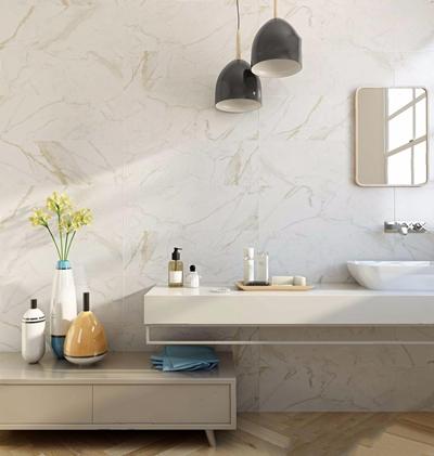 北欧卫浴洗手台 北欧卫浴用品 洗手台 单头吊灯 花艺