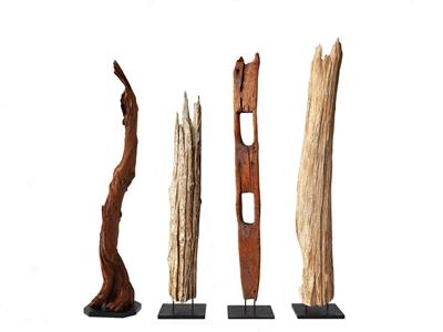 新中式雕塑摆件 新中式雕塑 装饰品 木雕摆件 落地摆件