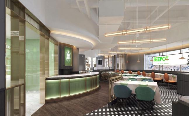 现代餐厅 现代餐厅 火锅店 轻工业风 吊灯 现代餐厅 餐桌椅 收银台 餐桌 桌布 西餐厅 吧台 卡座