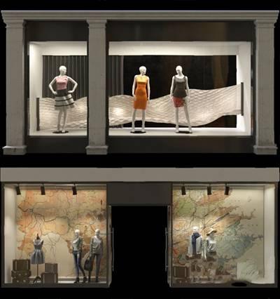 现代橱窗3D模型