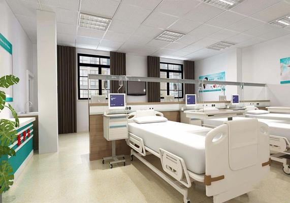 医院病房 医院病房 病床 仪器 洗手池