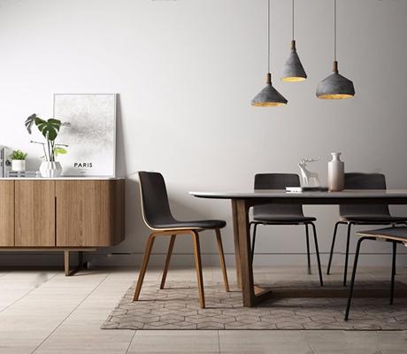 北欧餐桌椅 北欧餐桌 椅子 吊灯 边柜 装饰柜 餐边柜 摆件