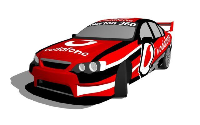 赛车SU模型