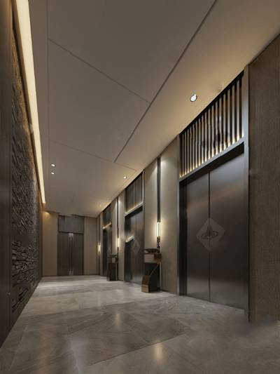 电梯厅3D模型