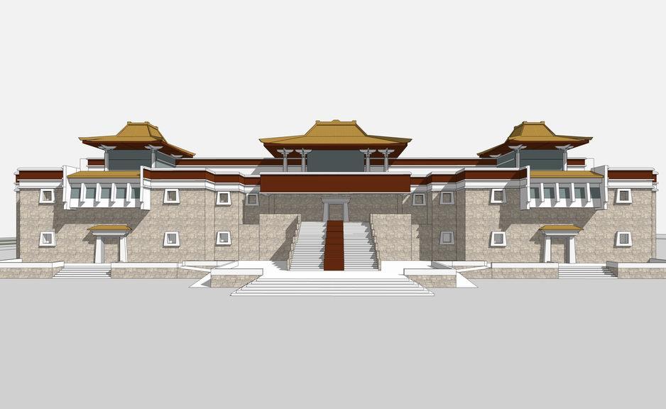 西藏博物馆SU模型