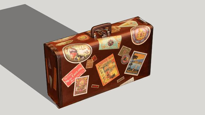 行李包 挂钟 钟表 箱子 盒子 气压计