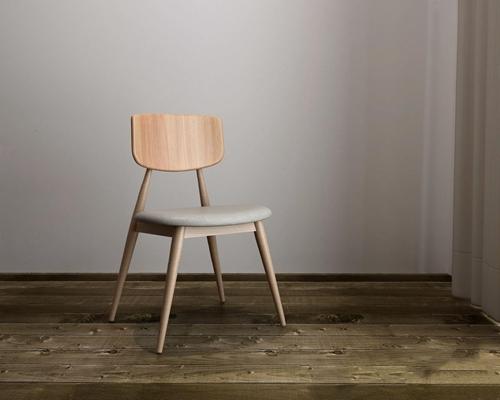 现代餐椅(木靠背)HL 现代休闲椅 椅子 单椅 实木椅子