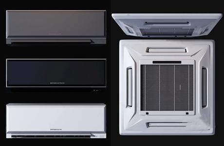 现代空调挂机 中央空调组合 现代家用电器 空调挂机 中央空调