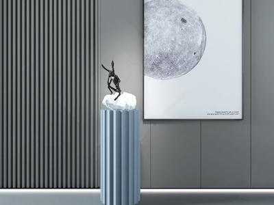 现代兔子雕塑