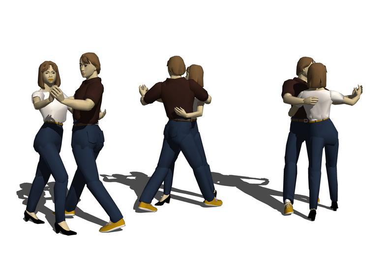 3D舞蹈人物SU模型