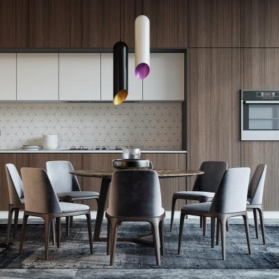 北歐餐桌椅櫥柜組合3D模型