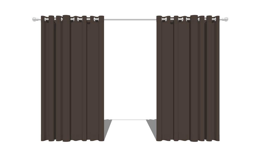 窗簾SU模型