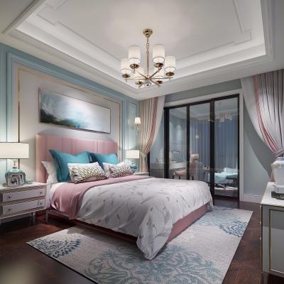 美式卧室女儿房3D模型