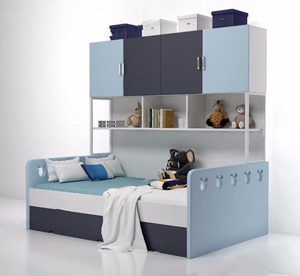 4-儿童床CZ 现代单人床 玩具 床具