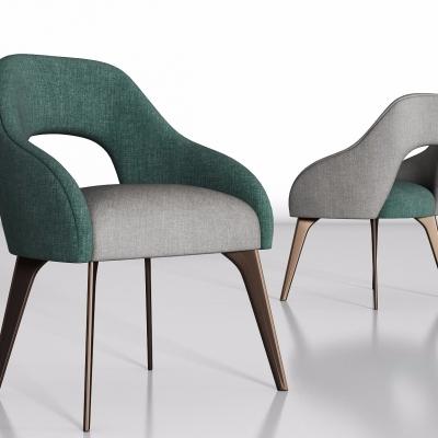 现代布艺单椅3D模型