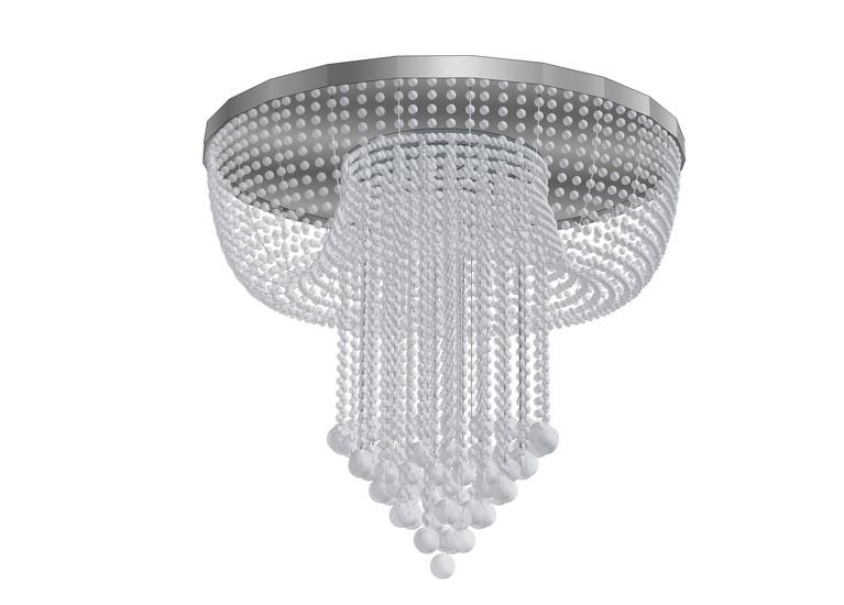 水晶吊灯SU模型