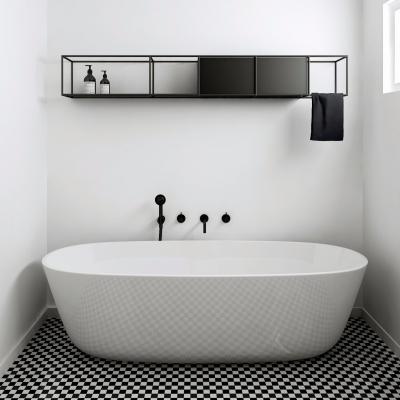 现代浴缸卫浴架组合3D模型