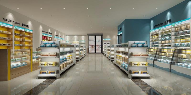 药房 现代商业零售 药房 医药柜 药 门头