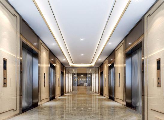 現代電梯廳 現代前臺接待 過道 走道