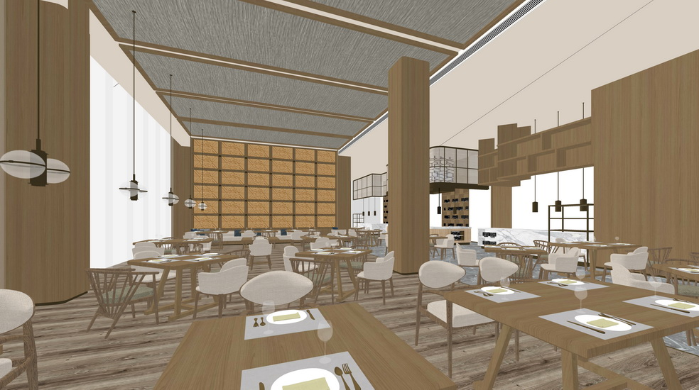 日式料理主题餐厅SU模型