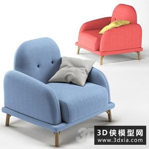 现代北欧单人沙发
