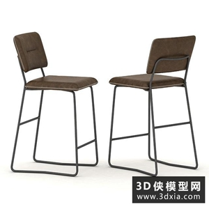 现代铁丝吧椅