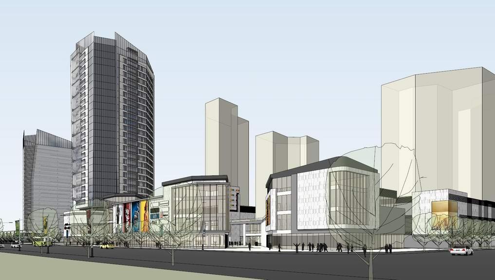 现代商业街+现代公寓SU模型