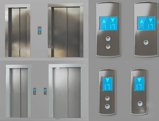 現代電梯3D模型