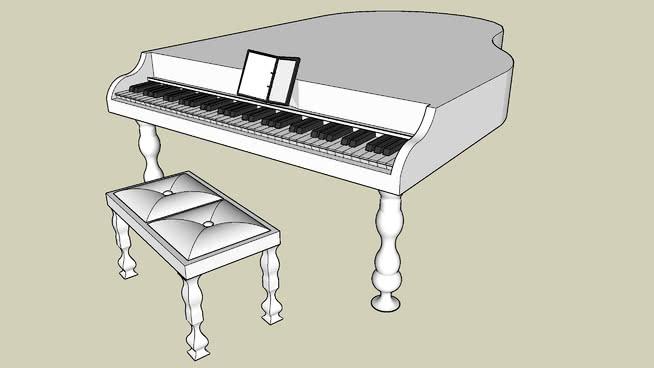 钢琴(白色) 烤炉 立式钢琴 三角钢琴 口琴 烤面包机