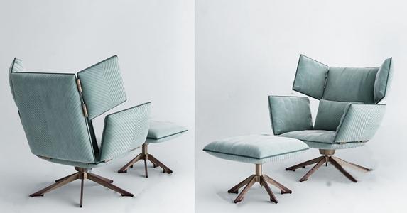 现代躺椅 现代躺椅 布艺单椅