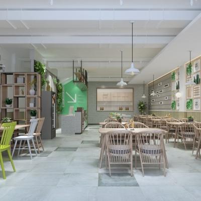 北欧面馆快餐店3D模型