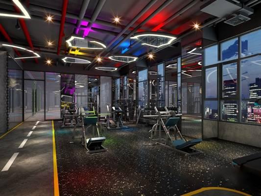 健身房3D模型下载