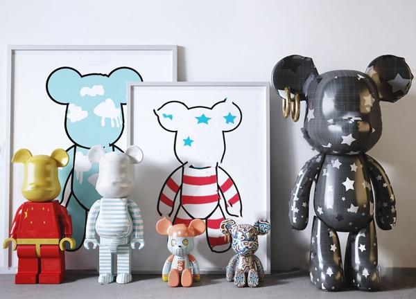 现代暴力熊玩具摆件3d模型