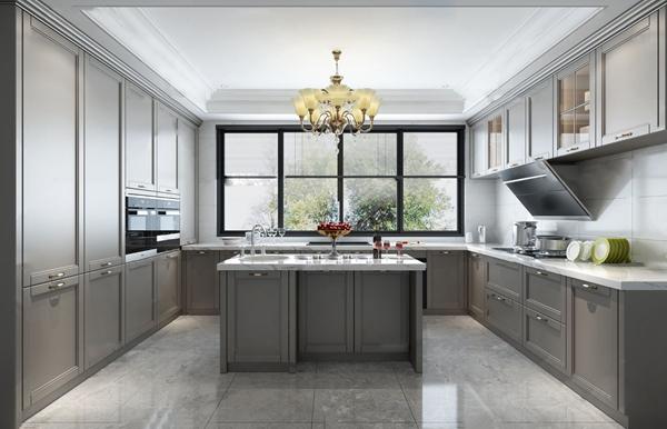 简欧厨房中岛台3d模型