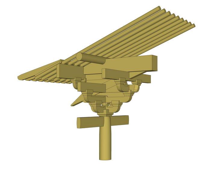 斗拱结构SU模型