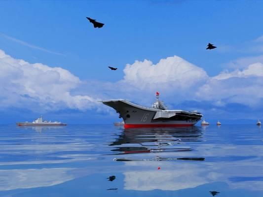 现代航母3D模型