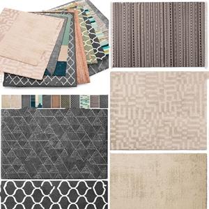 现代地毯组合3d模型