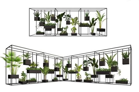 北欧花架 北欧盆栽盆景 盆栽 绿植 室内绿植 室外绿植 铁艺花架