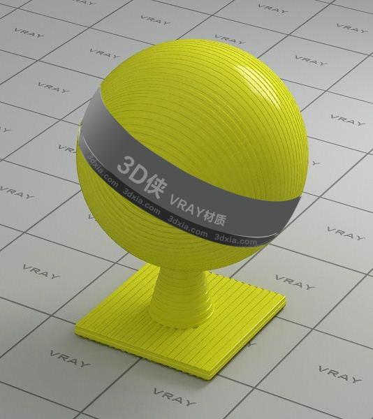 黄色塑料Vray材质下载